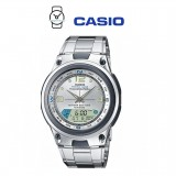 Casio AW-82D-7AVDF Illumination Fishing Gear 10 YEARS BATTERY Silver Stainless Steel Watch (Free Shipping)