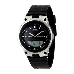 Casio AW-80-1AVDF Telememo 10 YEARS BATTERY LIFE Black Resin Watch (Free Shipping)