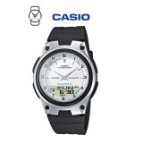 Casio AW-80-7AVDF Telememo 10 YEARS BATTERY LIFE Black & Silver Resin Watch (Free Shipping)