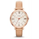 Fossil ES3487 Jacqueline Three Hand Leather Watch (Camel)