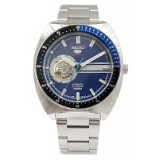 Seiko 5 Sports  SSA327K1 Gents Automatic Open Heart Stainless Steel Watch (Silver & Blue)