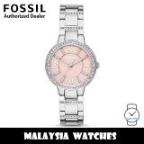 (OFFICIAL WARRANTY) Fossil ES3504 Virginia Three Hand Pink Dial Stainless Steel Watch (2 Years Fossil Warranty)