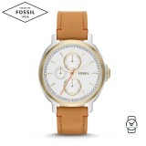 Fossil Women ES3523 Chelsey Multifunction Tan Leather Watch (Tan)