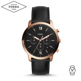 Fossil Men's FS5381 Neutra Chronograph Black Dial Leather Watch  (Black)