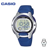 Casio Kids' LW-200-2AV Standard Digital 10-YEAR BATTERY Silver & Blue Resin Watch (Free Shipping)