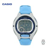 Casio Kids' LW-200-2B Standard Digital 10-YEAR BATTERY Silver & Light Blue Resin Watch (Free Shipping)