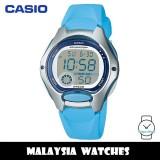 (100% Original) Casio LW-200-2B Standard Digital 10-Year Battery Light Blue Resin Kid's Watch LW-200-2BV LW200 LW200-2B LW-200-2BVDF