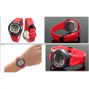 Casio Kids' LW-200-4A Standard Digital 10-YEAR BATTERY Red Resin Watch (Free Shipping)