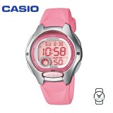 Casio Kids' LW-200-4B Standard Digital 10-YEAR BATTERY Silver & Pink Resin Watch (Free Shipping)