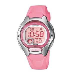 Casio Kids' LW-200-4B Standard Digital 10-YEAR BATTERY Silver & Pink Resin Watch (Free Shipping)