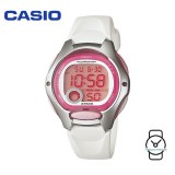 Casio Kids' LW-200-7A Standard Digital 10-YEAR BATTERY White & Pink Resin Watch (Free Shipping)