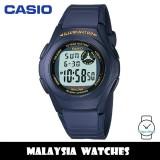 (100% Original) Casio F-200W-2A Standard Digital 10-Year Battery Navy Blue Resin Watch F200W F200W-2A F-200W-2ADF