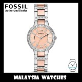 (OFFICIAL WARRANTY) Fossil ES3405 Virginia Three Hand Pink Dial Two-Tone Stainless Steel Watch (2 Years Fossil Warranty)