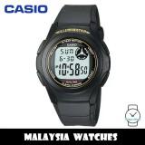 (100% Original) Casio F-200W-9A Standard Digital 10-Year Battery Black Resin Watch F200W F200W-9A F-200W-9ADF