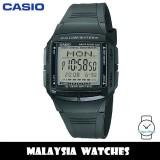 (100% Original) Casio Classic DB-36-1AV DATABANK Digital 10-YEAR BATTERY Black Resin Men's Watch DB36 DB36-1AV DB-36-1AVDF