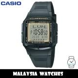 (100% Original) Casio Classic DB-36-9AV DATABANK Digital 10-YEAR BATTERY Black Resin Men's Watch DB36 DB36-9AV DB-36-9AVDF