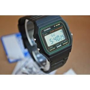 (100% Original) Casio F-91W-3DG VINTAGE SERIES Digital Black Resin Men's Watch F91W F91W-3DG F-91W-3DG