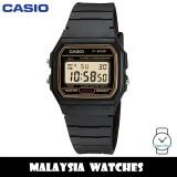 (100% Original) Casio F-91WG-9QDF VINTAGE SERIES Digital Black & Gold Resin Men's Watch F91WG F91WG-9QDF F-91WG-9Q