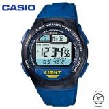 Casio Men's W-734-2AVDF Sport Runners 10-YEAR BATTERY Digital Blue & Black Resin Watch (Free Shipping)