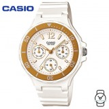 Casio Women's LRW-250H-9A1VDF 3 Hands Analog White & Gold Resin Watch (Free Shipping)