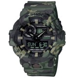 (OFFICIAL MALAYSIA WARRANTY) Casio G-SHOCK GA-700CM-3A SPECIAL COLOUR Camouflage Series Men's Resin Watch (Military Green)