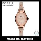 (OFFICIAL WARRANTY) Fossil ES3262 Georgia Mini Three Hand Sand Leather Watch (2 Years International Warranty)