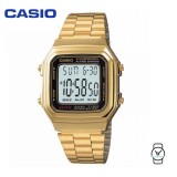 Casio Unisex A178WGA-1ADF Digital  Vintage Gold Stainless Steel Watch (Free Shipping)