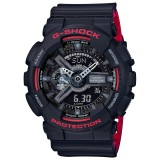 (OFFICIAL MALAYSIA WARRANTY) Casio G-SHOCK GA-110HR-1A SPECIAL COLOUR Vampire Model Men's Resin Watch (Black & Red)