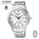(100% Original) Citizen AW1231-58B Eco-Drive Gent's Elegant Stainless Steel Watch (Silver)