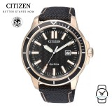(100% Original) Citizen AW1523-01E Eco-Drive Gent's Solar Power Nylon Strap Watch (Black)