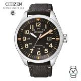 (100% Original) Citizen AW-5000-24E Eco-Drive Gent's Solar Power Nylon Strap Watch (Black)