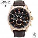 (100% Original) Citizen BL5542-07E Eco-Drive Gent's Sapphire Perpetual Calendar Chronograph Watch (Brown)