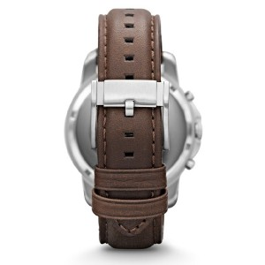 Fossil Men's Grant Chronograph Brown Leather Strap Watch FS4735