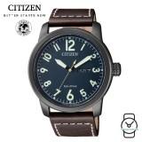 (100% Original) Citizen BM8478-01LB Eco-Drive Gent's Elegant Leather Watch (Black)