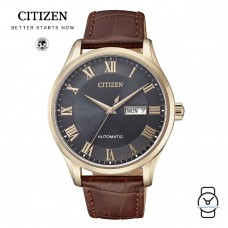 (100% Original) Citizen NH8363-14HB Automatic Gent's Leather Watch