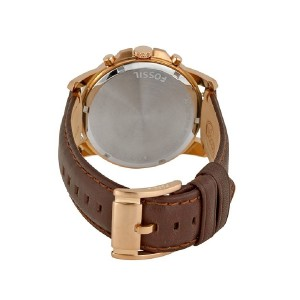 Fossil Men's Brown Grant Chronograph Leather Strap Watch FS4991