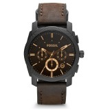 Fossil Men's Grant Chronograph Brown Leather Strap Watch FS4656