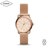 Fossil Women ES4333 The Commuter Rose Gold Dial Stainless Steel Watch (Rose Gold)