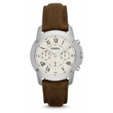 Fossil Men's Grant Chronograph Brown Leather Strap Watch FS4839