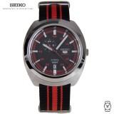 Seiko 5 SSA287K1 Gents Automatic Fabric Stripe Watch (Red & Black)
