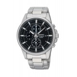 Seiko Men's Chronograph Silver Stainless Steel Strap Watch SNAF03P1