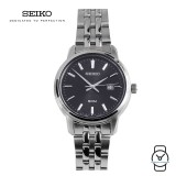 Seiko Ladies SUR663P1 Neo Classic Black Dial Stainless Steel Watch