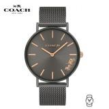 (100% ORIGINAL) Coach Ladies' 14503127 Perry Black Dial Stainless Steel Watch (Black)