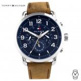 (100% Original) Tommy Hilfiger Men's 1791424 Briggs Brown Leather Watch (Brown)