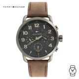 (100% Original) Tommy Hilfiger Men's 1791425 Briggs Dark Brown Leather Watch (Dark Brown)