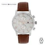 (100% Original) Tommy Hilfiger Men's 1791400 Kane Chronograph Brown Leather Watch (Brown)