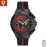 (100% Original) Scuderia Ferrari Men's 0830077 Race Day Chronograph Watch (Black & Red)