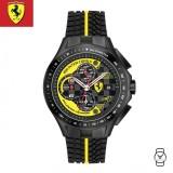 (100% Original) Scuderia Ferrari Men's 0830078 Race Day Chronograph Watch (Black & Yellow)