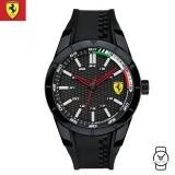 (100% Original) Scuderia Ferrari Men's 0830301 Redrev Watch (Black)