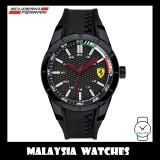 (100% Original) Scuderia Ferrari Men's 0830301 Redrev Black Silicone Strap Watch (2 Years International Warranty)